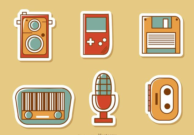 Retro Style Media Vector Pack 2 - бесплатный vector #153875