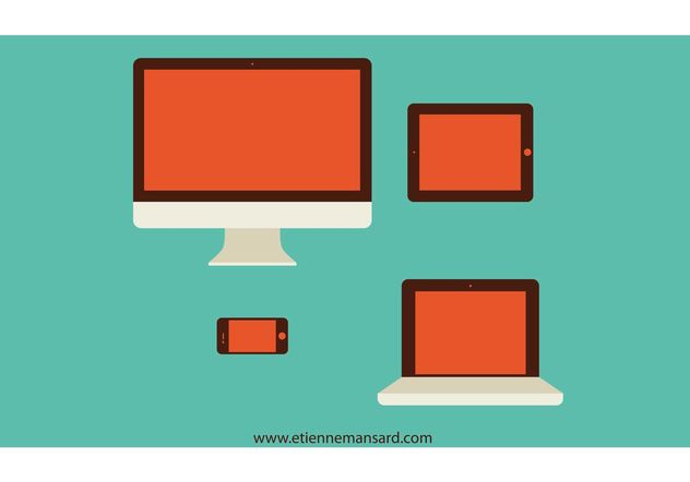 Mac Vector Style Devices - vector gratuit #153885