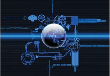 Futuristic Machinery - vector gratuit #153905