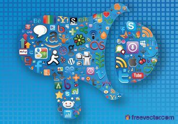 Social Media Graphics - vector #153935 gratis
