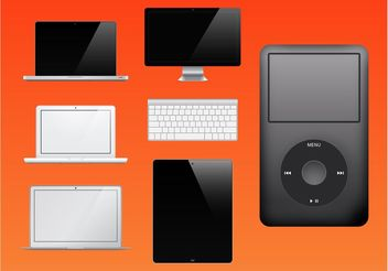Apple Products Vector - Free vector #153975