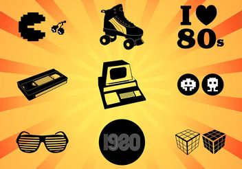 Eighties Vectors - vector #153985 gratis