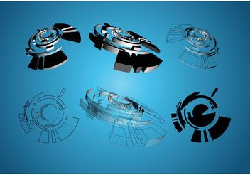 3D Shapes Graphics - vector #154055 gratis