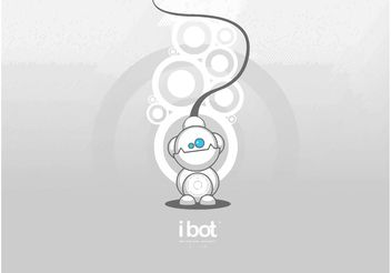 iBot Robot Cartoon - vector gratuit #154085