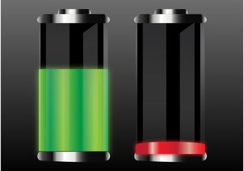 Batteries Vectors - vector gratuit #154315