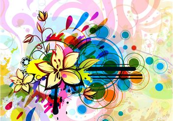 Floral Background Image Design - vector gratuit #154465
