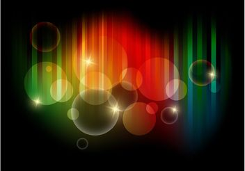 Colorful Bubbles Vector Art - Free vector #154595