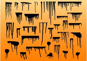 Paint Drips - vector gratuit #154635