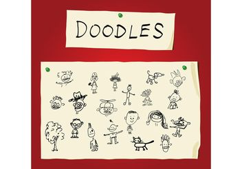 Children Art Doodles - vector gratuit #154645