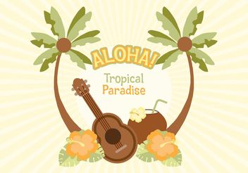 Free Hawaiian Vector Illustration - Free vector #154715