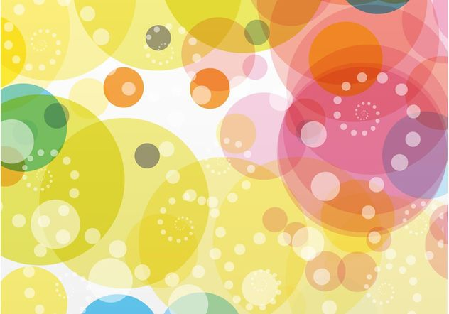 Colorful Circles Background Vector - vector gratuit #154775