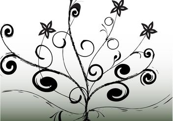 Abstract Tree Design - vector gratuit #154785