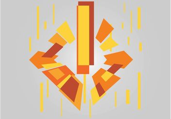 Geometric Burst Design - vector gratuit #154825