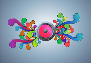 Vector Music Speaker Design - Free vector #154845