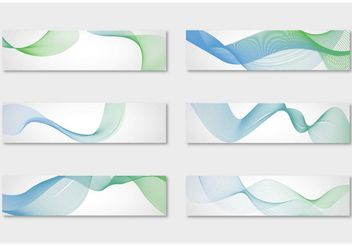 Abstract Waves Background Vectors - бесплатный vector #154865