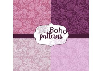 Boho Pattern Set - vector gratuit #154895