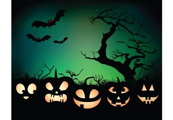 Halloween night background - Free vector #154985