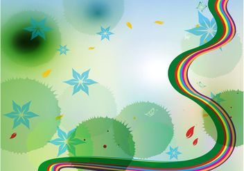 Rainbow Nature Background - Free vector #155015