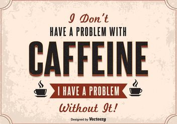 Typography Coffee Poster - Free vector #155035