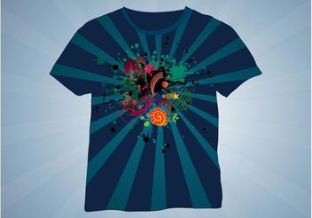 T-Shirt Design - vector #155055 gratis