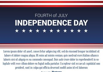 Independence Day Background - vector #155085 gratis