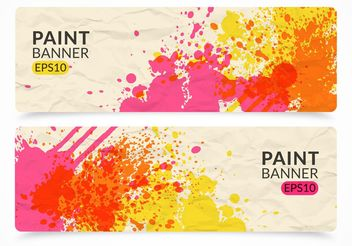 Free Paint Vector Banner Set - бесплатный vector #155095