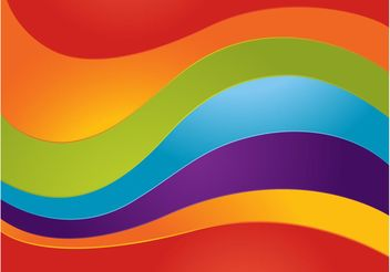 Curved Rainbow Vector - бесплатный vector #155255