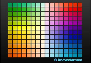 Color Grid - vector gratuit #155275
