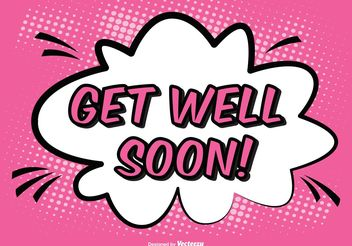 Comic Style Get Well Soon Illustration - vector gratuit #155345