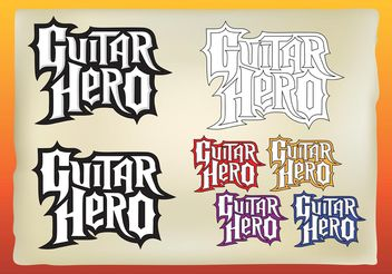 Guitar Hero Vectors - Free vector #155405