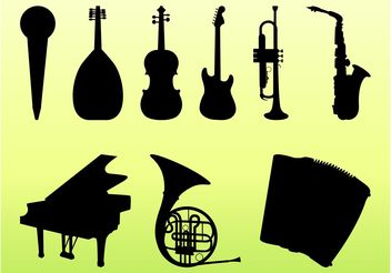Musical Instruments Graphics Set - Free vector #155435