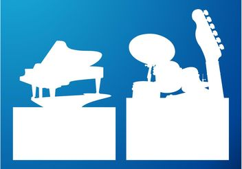 Musical Silhouettes - Free vector #155455