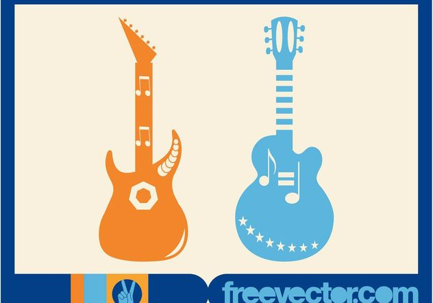 Vector Guitars - Free vector #155465