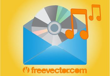 Music Mail Icon - Free vector #155475
