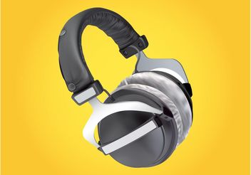 Headphones Vector - vector gratuit #155485