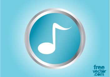 Vector Music Note Icon - Free vector #155495