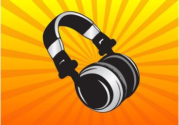 Vector Headphones - vector gratuit #155515