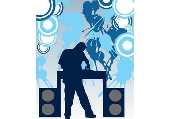 DJ Party - vector gratuit #155565