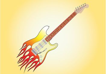 Burning Guitar Graphics - vector gratuit #155585