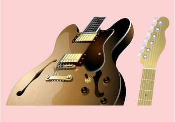 Guitar Parts - vector gratuit #155705