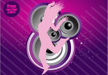 Party Girl Vector - Free vector #155735