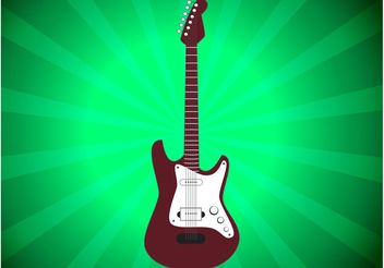 Electric Guitar Vector - vector gratuit #155755