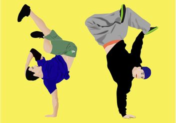 Break Dancing - Kostenloses vector #155775