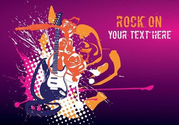 Rock Flyer - Free vector #155875