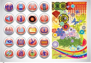 Vector Design Buttons Graphics - vector gratuit #155935
