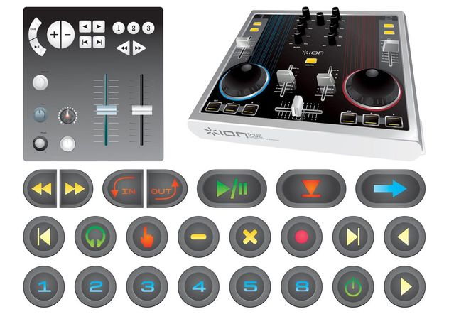 Mixing Console And Buttons - vector gratuit #155945