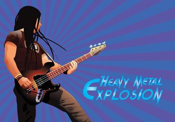 Heavy Metal - vector gratuit #155975