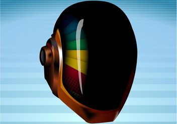 Daft Punk Mask - Free vector #156005