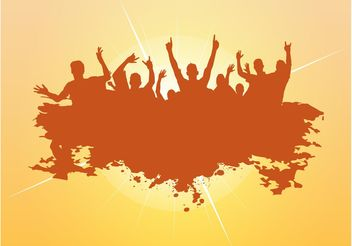 Dancing Vector Crowd - vector gratuit #156025