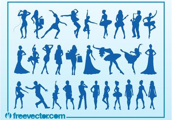 Silhouettes - Free vector #156055